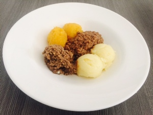 Haggis, Mince and Tattie Meal